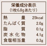 栄養成分表示の表示例