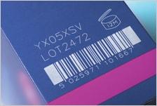 CSL30の印字事例:カートン(バーコード)