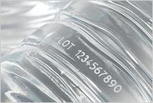 CSL30の印字事例:ペットボトル(9.3μm波長)