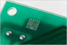 CSL30の印字事例:プリント基板(QRコード)