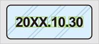 印字の背景に柄がある場合のPCi400の取込画像イメージ
