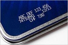 SL1の印字事例1:アルミ(塗装面)