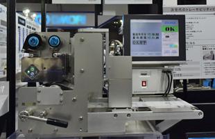 印字検査機PCi170とサーマルプリンタTHP200c展示の様子